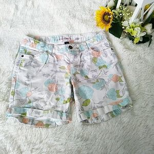 Denim jean shorts Lands'end flowers
